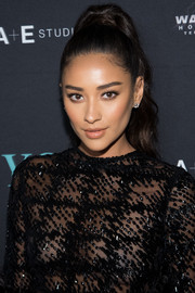 Shay Mitchell wore her hair in a glamorous ponytail at the 'You' series premiere.