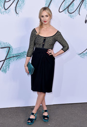 Elisabeth von Thurn und Taxis kept it classy in a gray and black cocktail dress at the Serpentine Gallery Summer Party.