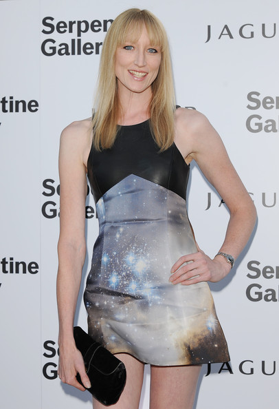 Jade Parfitt lit up the red carpet in a celestial print mini dress with a leather accent.