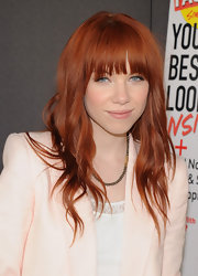 Carly Rae's coppery locks looked vibrant and fiery at the 'Seventeen' magazine 'Pretty Amazing' finalist celebration.