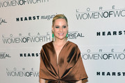Actress Aimee Mullins attends Seventh Annual Women Of Worth Awards at Hearst Tower on December 6, 2012 in New York City.