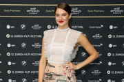 Shailene Woodley Embroidered Dress