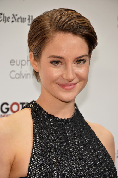 Shailene Woodley Short Side Part [hair,face,hairstyle,eyebrow,chin,lip,beauty,blond,brown hair,cocktail dress,shailene woodley,beauty,hair,new york city,cipriani wall street,ifp,annual gotham independent film awards]