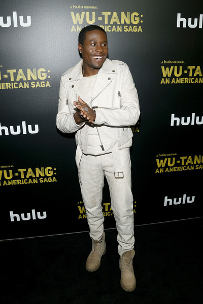 Shameik Moore Work Boots [wu-tang: an american saga premiere,outerwear,suit,style,premiere,shameik moore,hulu,new york city,wu-tang,metrograph,reception,premiere]