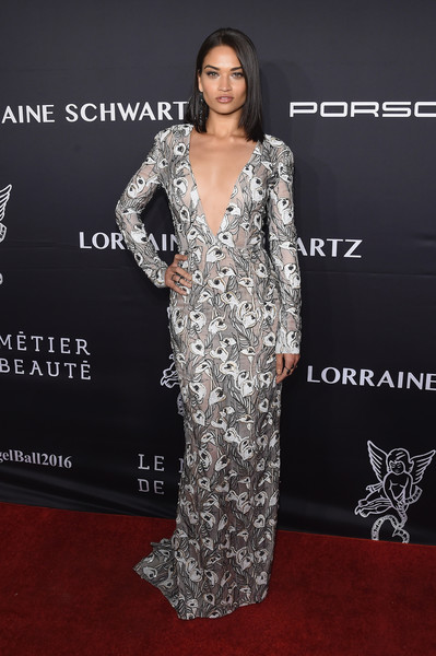 Shanina Shaik Embroidered Dress