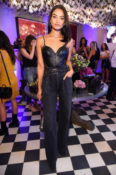 Shanina Shaik High-Waisted Jeans