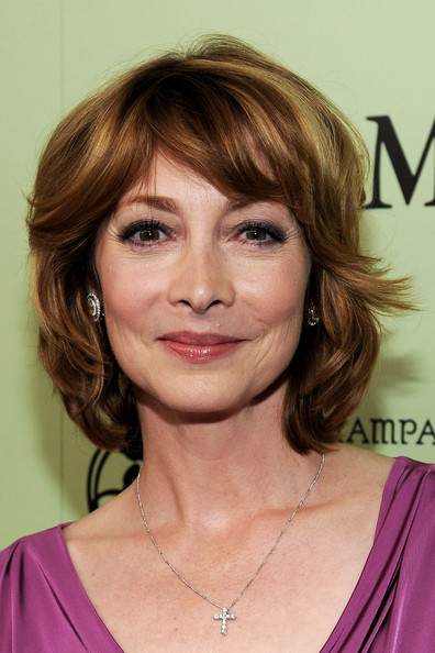 Sharon Lawrence Layered Razor Cut [fourth annual women in film pre-oscar cocktail party,sharon lawrence,hair,face,hairstyle,eyebrow,chin,blond,layered hair,brown hair,hair coloring,lip,west hollywood,california,soho house,perrier-jouet,red carpet]