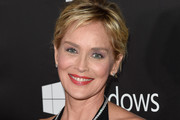 Sharon Stone Diamond Tennis Necklace