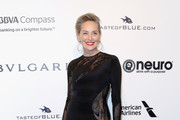 Sharon Stone Form-Fitting Dress