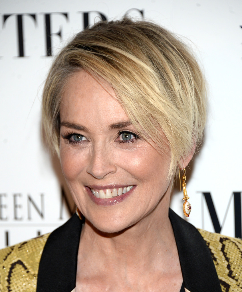 Sharon Stone Layered Razor Cut - Short Hairstyles Lookbook - StyleBistro