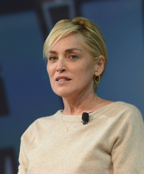 Sharon Stone Short Side Part [hair,face,chin,lady,hairstyle,blond,official,white-collar worker,sharon stone,pttow,terrenea resort,rancho palos verdes,california]