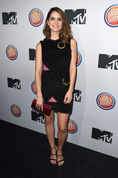Shelley Hennig Embroidered Dress
