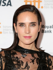 Jennifer Connelly attended the 'Shelter' premiere wearing her hair in a sleek and modern flip.