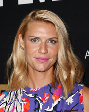 Claire Danes was in the mood for bright hues, pairing pink lipstick with her multicolored print dress.