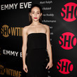 Emmy Rossum in Dion Lee at Showtime's Emmy Eve Party