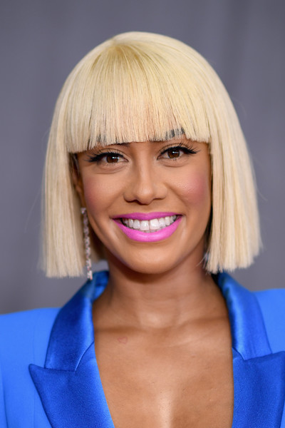 Sibley Scoles Short Cut With Bangs [red carpet,hair,face,hairstyle,blond,chin,lip,bangs,eyebrow,bob cut,head,sibley scoles,tv personality,new york city,madison square garden,grammy awards,annual grammy awards]