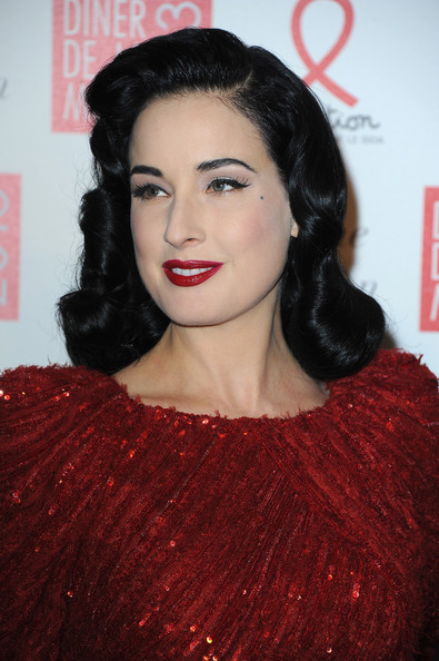 More Pics of Dita Von Teese Beaded Dress (1 of 5) - Dita Von Teese Lookbook - StyleBistro