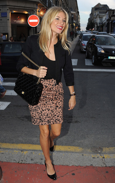 Sienna Miller Quilted Leather Bag