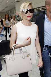 Sienna Miller headed out in Nice wearing a pair of oversized cateye sunnies.