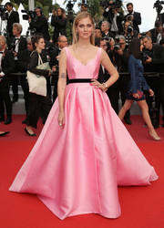 Chiara Ferragni looked like a fairytale princess in this pink Alberta Ferretti ball gown at the Cannes Film Festival screening of 'Sink or Swim.'