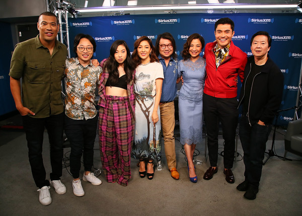 More Pics of Constance Wu Medium Wavy Cut (1 of 30) - Constance Wu Lookbook - StyleBistro [entertainment weekly radio spotlight with the cast of crazy rich asians,social group,event,team,premiere,michael yo,constance wu,awkwafina,kevin kwan,jimmy o. yang,ken jeong,michelle yeoh,l-r,siriusxm]