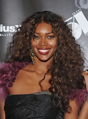 Jessica White wore her gorgeous locks in a sexy halo of curls at the One Night Only party at Studio 54.