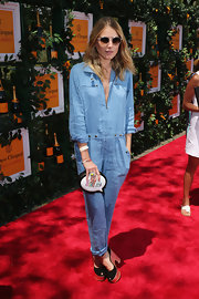 Dree Hemingway rocked a light-blue denim jumpsuit at the Sixth Annual Veuve Clicquot Polo Classic.