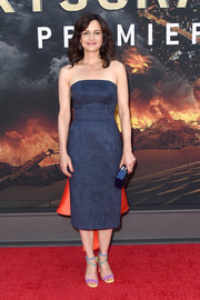 Carla Gugino added more color with a pair of pastel-hued heels by Brian Atwood.