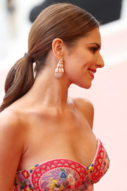 Cheryl Cole wore her hair in an elegant ponytail during the Cannes premiere of 'Slack Bay.'