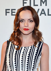 Christina Ricci kept her red carpet look simple but elegant with loose curls.