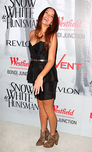 Rebecca Breeds was in on the peplum trend at the premiere of 'Snow White & the Huntsman.' She wore a strapless LBD.