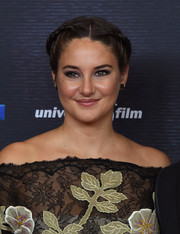 Shailene Woodley was boho-glam at the Europe premiere of 'Snowden' wearing this braided updo.