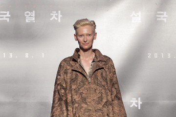 Tilda Swinton Goes Bold In Mocha