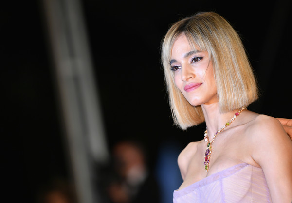 Sofia Boutella Bob [farenheit 451,hair,blond,face,lady,beauty,pink,hairstyle,lip,skin,fashion,red carpet arrivals,sofia boutella,screening,cannes,france,cannes film festival,palais des festivals]