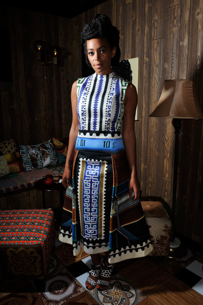 Solange Knowles Print Dress