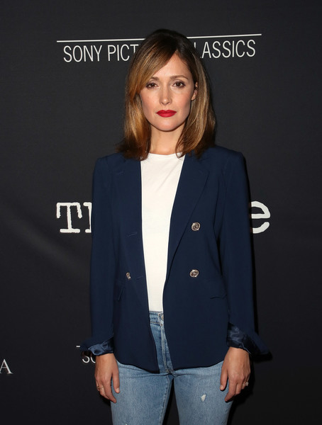 More Pics of Rose Byrne Red Lipstick (5 of 11) - Makeup Lookbook - StyleBistro [the wife,clothing,outerwear,blazer,suit,jacket,formal wear,fashion,premiere,pantsuit,top,rose byrne,arrivals,los angeles,west hollywood,california,pacific design center,sony pictures classics,premiere]