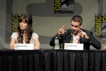 "Colin Farrell Jessica Biel Sony Preview - ""Total Recall,"" ""Looper"" And ""Eylsium"" - Comic-Con International 2012"