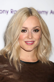 Fearne Cotton looked fab at the 2012 Sony Radio Academy Awards wearing her layered platinum tresses in windswept waves.
