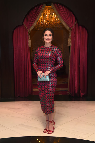 Sophia Bush Print Dress [sophia bush,jurors,activist,fashion,fashion design,magenta,formal wear,performance,dress,ajyal youth film festival,qatar,doha]