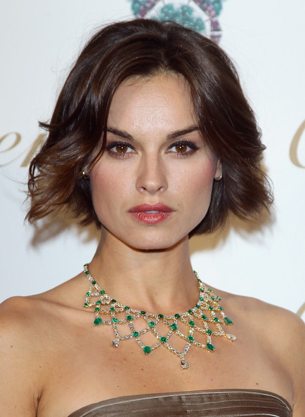 Kasia Smutniak opted for a short and sweet feathery 'do when she attended the Sortilege de Cartier collection launch.