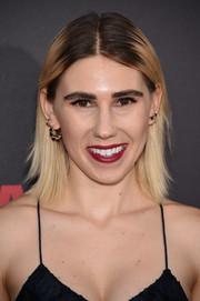Zosia Mamet rocked a striking dye job at the New York premiere of 'Southpaw.'