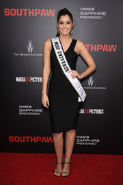Paulina Vega sheathed her fabulous figure in a black bandage dress for the New York premiere of 'Southpaw.'