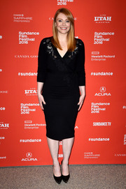 Bryce Dallas Howard was classic and stylish in a lace-accented black wrap dress at the Sundance Film Fest premiere of 'Southside with You.'