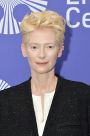Tilda Swinton rocked a sculpted fauxhawk at the New York screening of 'The Souvenir.'