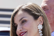 Queen Letizia of Spain Long Side Part