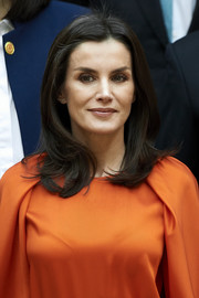 Queen Letizia of Spain wore her hair down to her shoulders with flipped ends at the promotion of Honorary Ambassadors for 'Spain' brand.