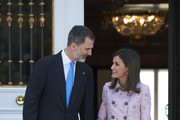 Queen Letizia of Spain Printed Coat