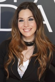 Leire Martinez wore her ombre locks down and had their ends mildly curled.