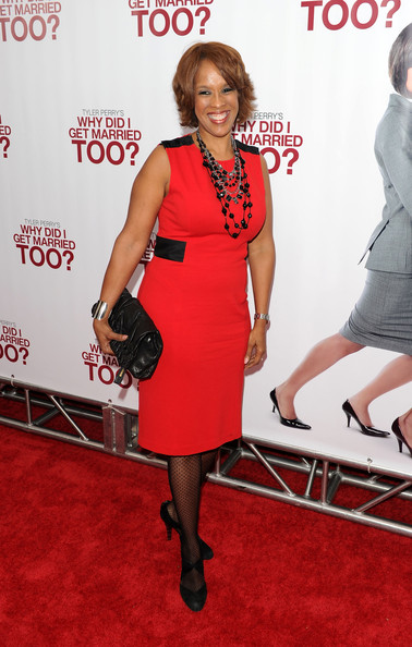 Oprah's best-friend Gayle King, came out to this movie premiere looking sophisticated as always in a red knee-length dress. Her leather clutch was the perfect accessory to go with her classy style.