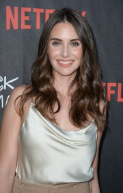 Alison Brie sported glamorous center-parted waves at the special screening of 'BoJack Horseman.'